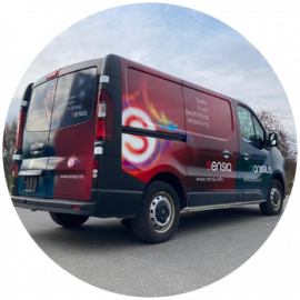 Unser Lieferwagen hat ein neues Design!